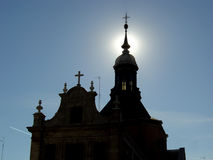 Sunlight. Church in spain Stock Photography
