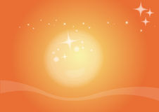 Sunlight. Illustration waves and stars background in sunlight Royalty Free Stock Photos