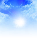 Sunlight. In a clear blue sky royalty free illustration