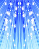 Sunlight. In a clear blue sky with sparkles Stock Photo