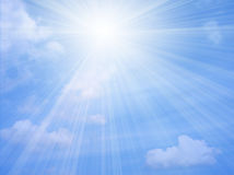 Sunlight. Beautiful blue sky with sunlight Royalty Free Stock Images