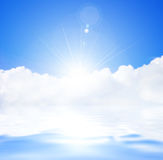 Sunlight. And copy spase, sky Royalty Free Stock Photo