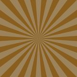Sunlight abstract background. Brown color burst background. Vector illustration. Sun beam ray sunburst. Pattern background. Retro bright backdrop Stock Images