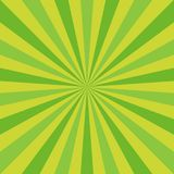 Sunlight abstract background. Green color burst background. Vector illustration. Sun beam ray sunburst pattern background. St Patrick day bright backdrop vector illustration