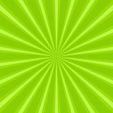 Sunlight abstract background. Green color burst background. Vector illustration. Sun beam ray sunburst. Pattern background. St Patrick day bright backdrop Royalty Free Stock Image