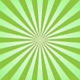 Sunlight abstract background. Green color burst background. Vector illustration. Sun beam ray sunburst pattern background. Retro bright backdrop. Watermelon stock illustration