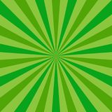 Sunlight abstract background. Green color burst background. Vector illustration. Sun beam ray sunburst pattern background. St Patrick day bright backdrop Royalty Free Stock Photo