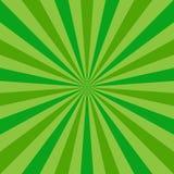 Sunlight abstract background. Green color burst background. Vector illustration. Sun beam ray sunburst pattern background. St Patrick day bright backdrop royalty free illustration