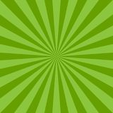 Sunlight abstract background. Green color burst background. Vector illustration. Sun beam ray sunburst. Pattern background. St Patrick day bright backdrop Royalty Free Stock Images