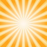 Sunlight abstract background. Orange and brown color burst background. Vector illustration. Sun beam ray sunburst pattern background. Retro bright backdrop Royalty Free Stock Images