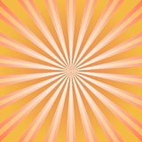Sunlight abstract background. Orange and brown color burst background. Vector illustration. Sun beam ray sunburst pattern background. Retro bright backdrop Stock Images