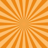 Sunlight abstract background. Orange and brown color burst background. Vector illustration. Sun beam ray sunburst pattern background. Retro bright backdrop Royalty Free Illustration