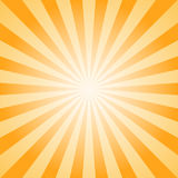 Sunlight abstract background. Orange and brown color burst background. Vector illustration. Sun beam ray sunburst pattern background. Retro bright backdrop Royalty Free Stock Photo