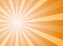 Sunlight abstract background. Orange and gold color burst background. Vector illustration. Sun beam ray sunburst pattern . Retro autumn backdrop stock illustration