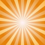 Sunlight abstract background. Orange and gold color burst background. Vector illustration. Sun beam ray. Sunburst pattern background. Retro bright backdrop Royalty Free Stock Photography