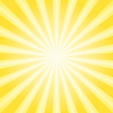Sunlight abstract background. Powder yellow color burst background. Vector illustration. Sun beam ray sunburst pattern background. Retro bright backdrop stock illustration