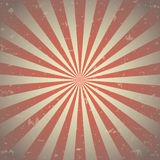 Sunlight abstract background. Red and beige burst background. Vector illustration. Sun beam ray sunburst pattern background. Retro circus backdrop stock illustration