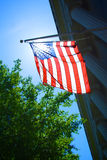 Sunlight through American Flag Stock Photography