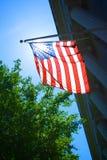 Sunlight through American Flag Stock Photography