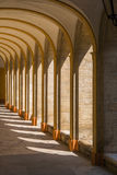 Medieval cloister Stock Photos