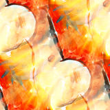 Sunlight art picture watercolor seamless Royalty Free Stock Photography