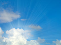 Sunlight background with cloud Royalty Free Stock Photo