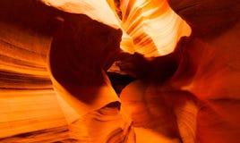 Sunlight Beams Through Crevasse Sandstone Rock Antelope Slot Canyon Royalty Free Stock Images