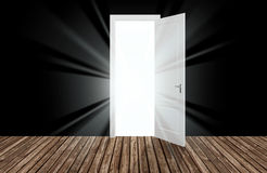 Sunlight behind the opening door,3D Stock Photo