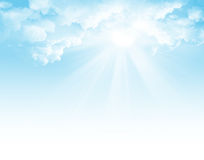 Sunlight and blue sky Stock Photography