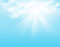 Sunlight and blue sky Stock Image