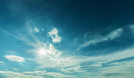 Sunlight and blue sky Royalty Free Stock Image