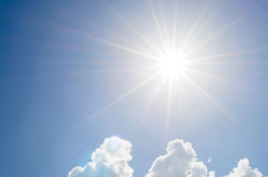 Sunlight and blue sky backgrounds Stock Photography
