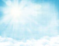 Sunlight and blue sky Stock Photos