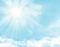 Sunlight and blue sky Royalty Free Stock Photography