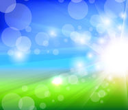 Sunlight blurry summer background Royalty Free Stock Photos