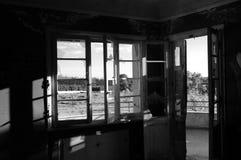 Sunlight through broken window Royalty Free Stock Images