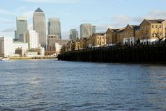 Sunlight on Canary Wharf Royalty Free Stock Photography