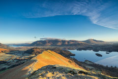 Sunlight on Cat Bells in the Lake District Royalty Free Stock Photography