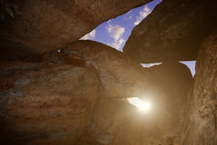 Sunlight in cave Stock Photos