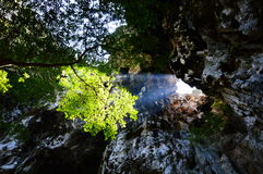 Sunlight through cave hole Royalty Free Stock Image