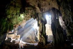 Sunlight in the cave, Thailand Royalty Free Stock Photo