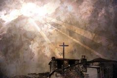 Sunlight on the church Stock Photography