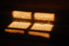 Sunlight on Church Interior Step Royalty Free Stock Images