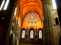 Sunlight Church Stain Glass Window Royalty Free Stock Photography