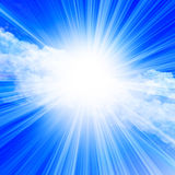 Sunlight in a clear blue sky Royalty Free Stock Photos
