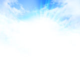 Sunlight in clear blue sky Royalty Free Stock Images