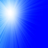 Sunlight in clear blue sky Royalty Free Stock Photo