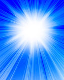 Sunlight in a clear blue sky Stock Photography
