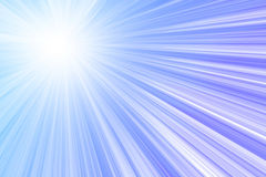 Sunlight in clear blue sky Royalty Free Stock Photography