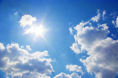 Sunlight with clouds Stock Image